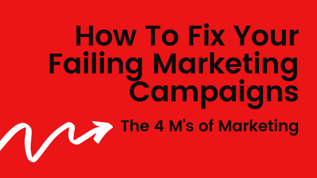 """Featured image for """"How To Fix Your Failing Marketing Campaigns: The 4 M's of Marketing"""""""